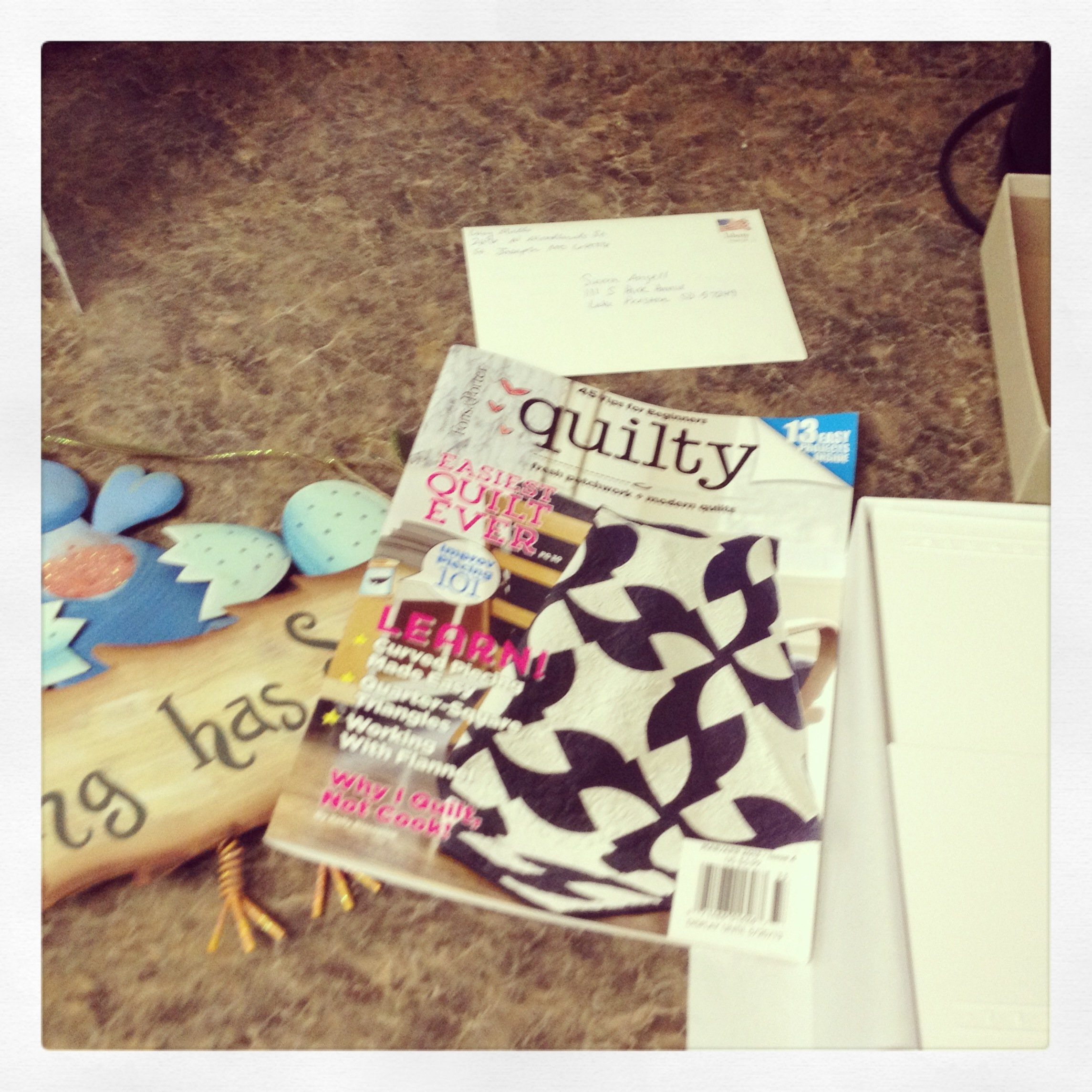 Packages from Missouri: Quilty Magazine, Spring Sign, Stationary