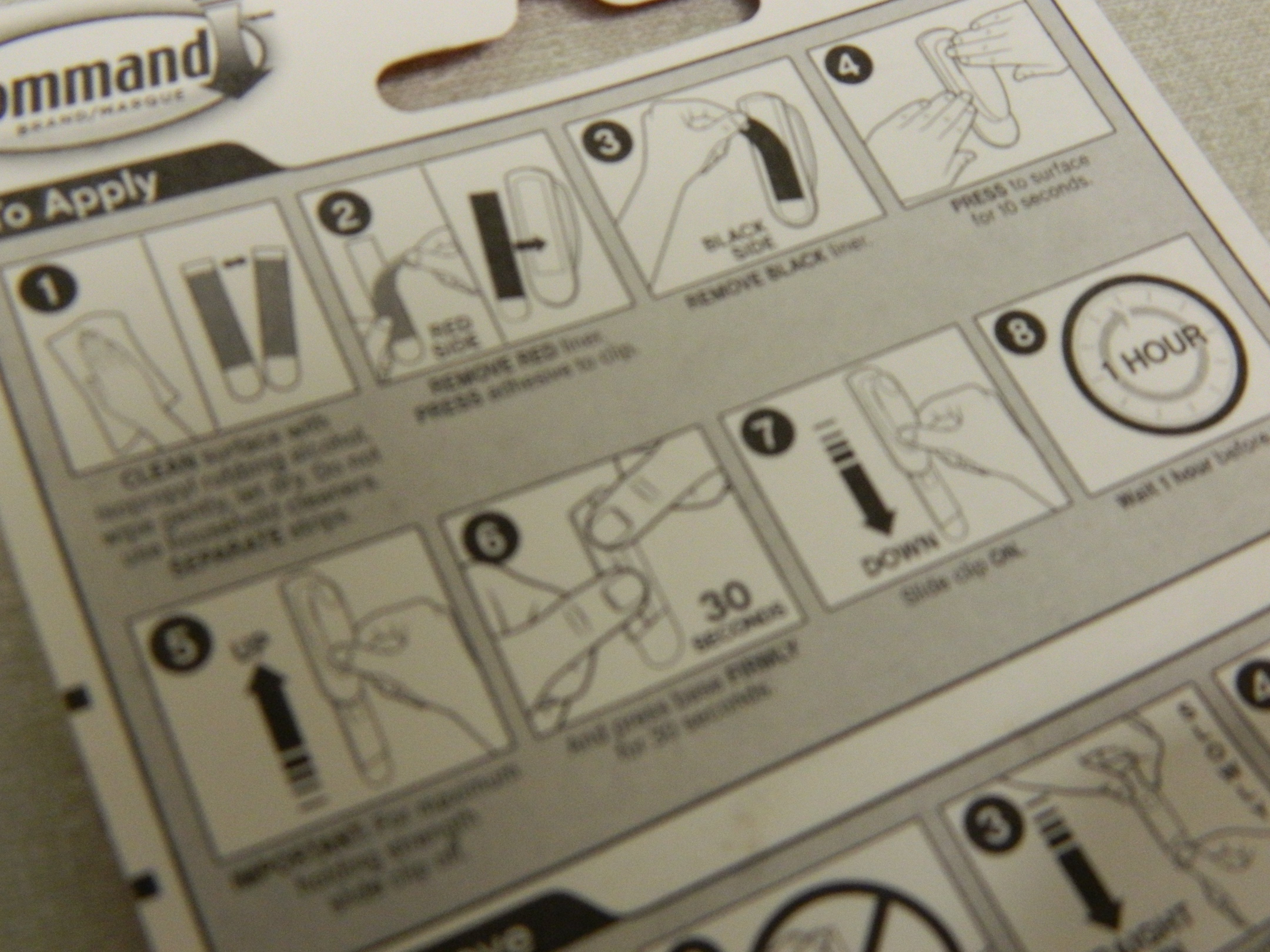 Command hanging strips instructions