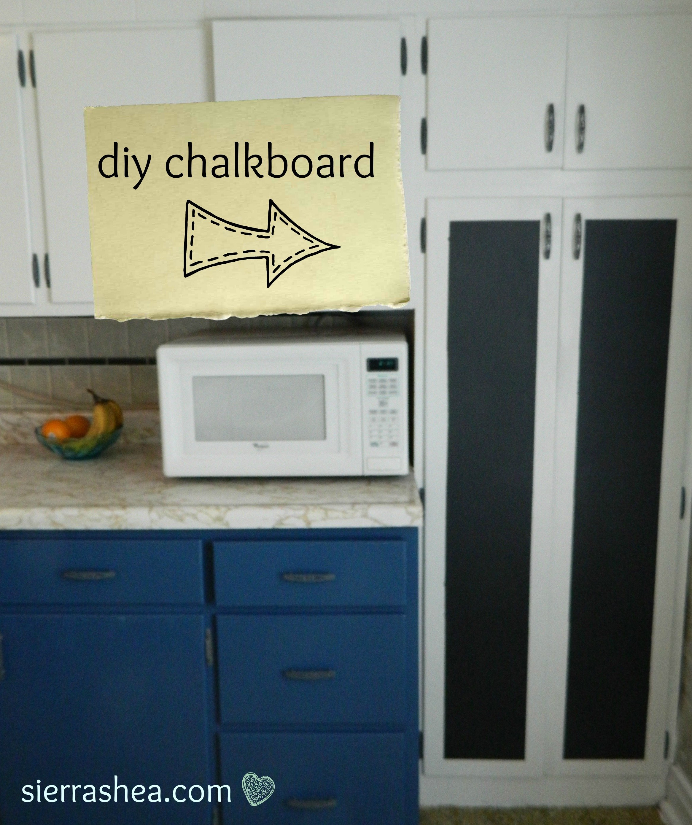 DIY: Chalkboard Paint in Kitchen
