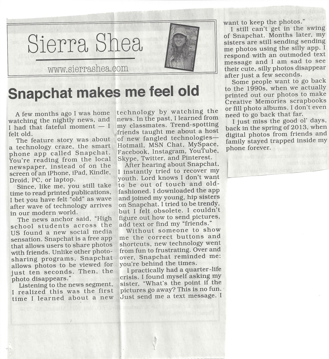 Column: Snapchat makes me feel old