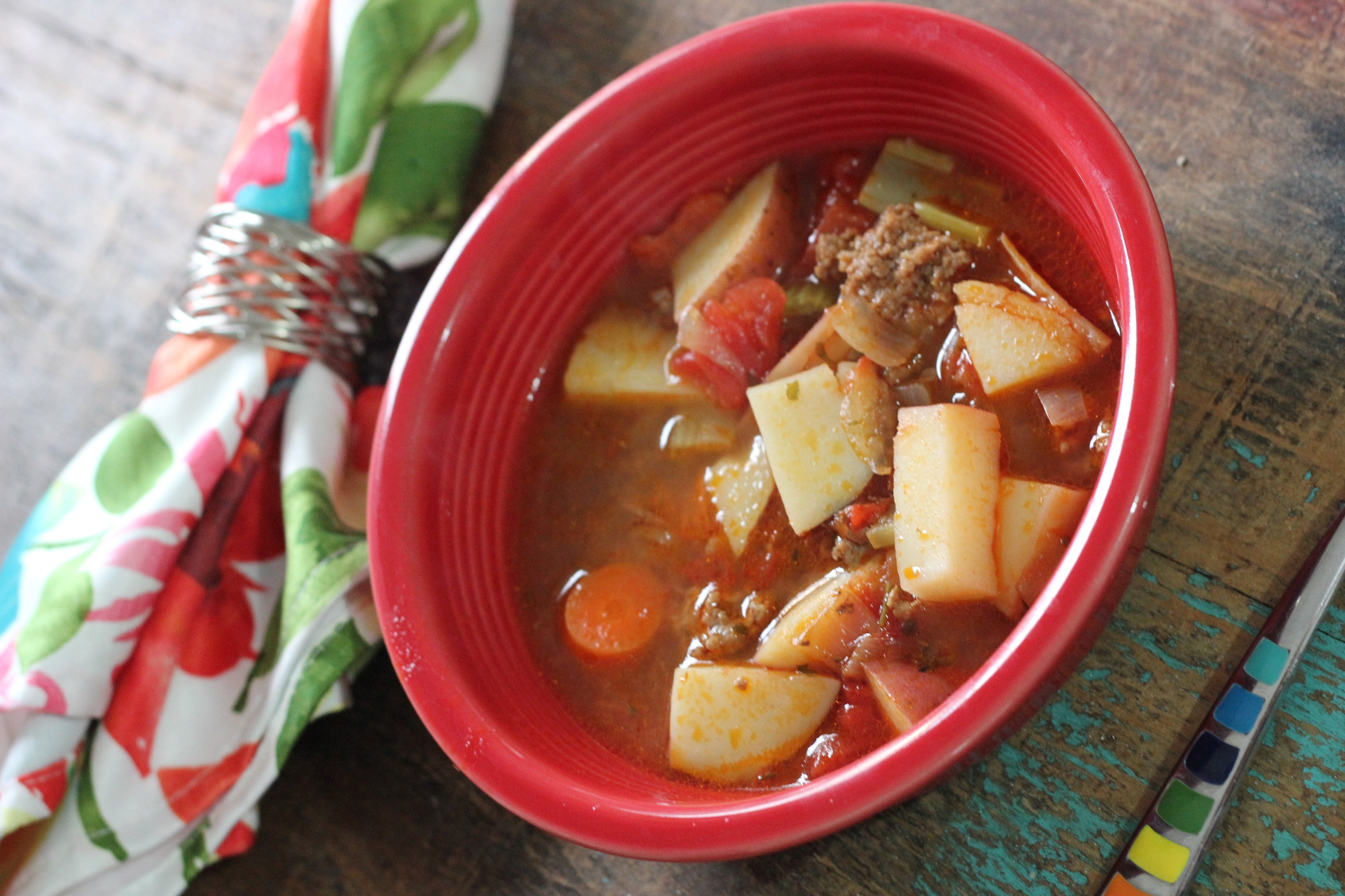 The Pioneer Woman's Hamburger Soup