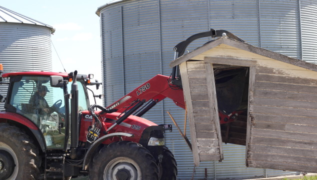 Farmin' Friday: A mother's day gift, demolition, strawberry patch