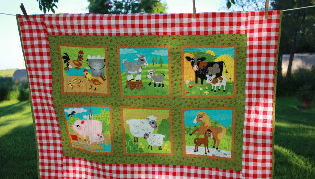 Oink a Doodle Moo Baby Quilt – Quick & Easy