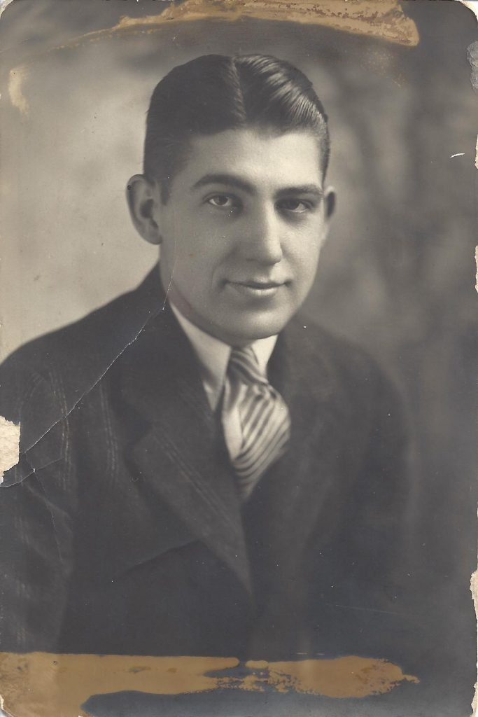 L.W. Angell, Junior as a young man.